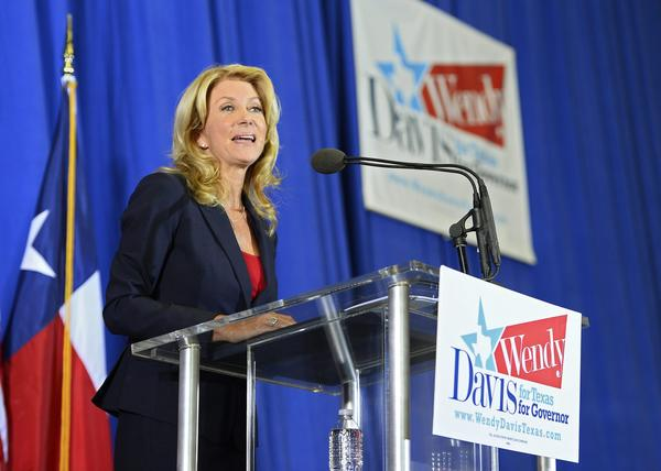 Democratic state Sen. Wendy Davis announces her run for Texas governor on Thursday.