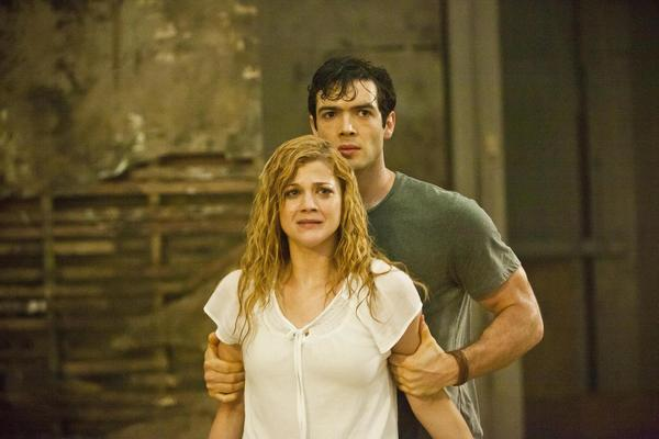 "Rebekah Brandes and Ethan Peck in the movie ""Nothing Left to Fear,"" directed by Anthony Leonardi."