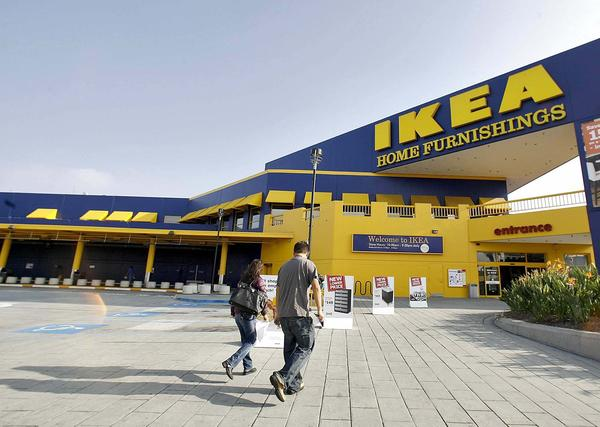 An Ikea store in Burbank, which uses solar panels for power but, unlike stores in Britain, has yet to offer them for sale to consumers.