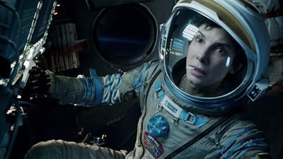 Academy Award? winners Sandra Bullock (?The Blind Side?) stars in ?Gravity,? a heart-pounding thriller that pulls you into the infinite and unforgiving realm of deep space. cr: Warner Bros. Pictures ..OUTSIDE TRIBUNE CO.- NO MAGS, NO SALES, NO INTERNET, NO TV, CHICAGO OUT, NO DIGITAL MANIPULATION...