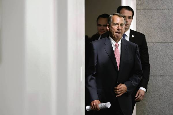 House Speaker John Boehner is kowtowing to roughly 30 House Republicans whose districts are almost exclusively white.