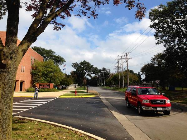 During a North Shore multijurisdictional effort cracking down on cellphone use by drivers, Highland Park police targeted school zones like the one seen here, as well as business districts. More than 700 citations were issued in the six participating communities, officials said.