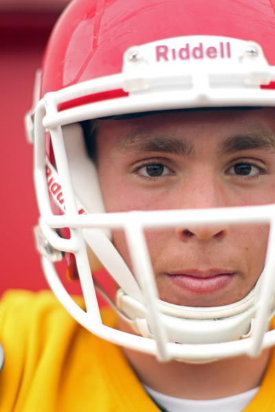 Naperville Central QB Jake Kolbe at practice in Naperville on Monday, Aug. 13, 2012.