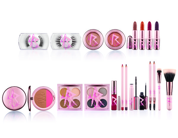 Items in Rihanna's 20-piece RiRi Hearts MAC Collection, which sell for $16.50 to $44.