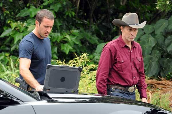 """A Texas Ranger (Tim Daly, right) searches for his daughter on """"Hawaii Five-0"""" on CBS. With Alex O'Loughlin."""