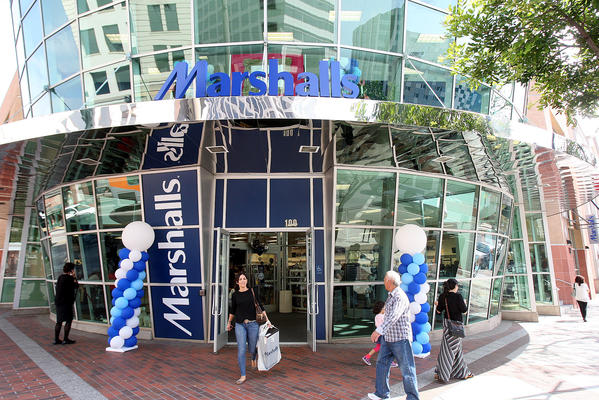 Newly opened Marshalls, on the corner of Broadway and Brand Blvd. in Glendale on Thursday, October 3, 2013. Marshalls replaces Borders, which closed in 2011.