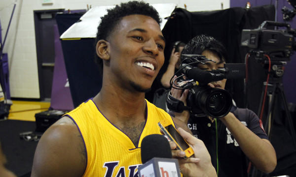 Guard Nick Young, who signed with the Lakers in July after playing last season at Philadelphia, could sit out the Lakers' first two preseason games.