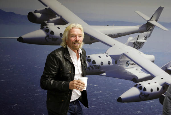 Richard Branson is seen at the Virgin Galactic hangar at Mojave Air and Space Port in Mojave this year. NBC says it will air a competition show with an out-of-this-world prize: a ride into space.