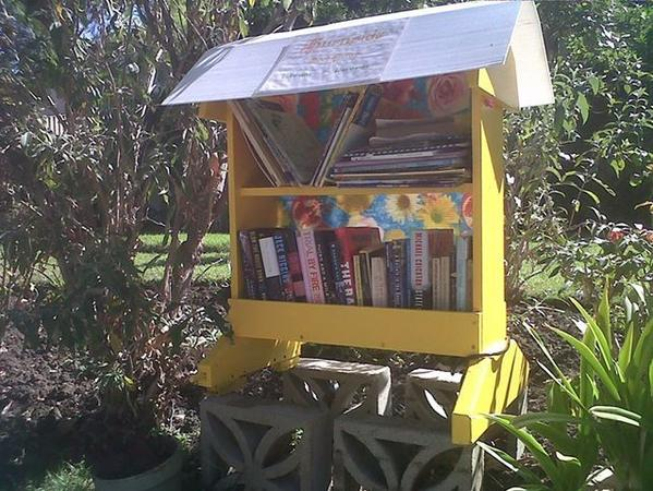 Street corner libraries such as this one are a potent symbol of the empathy and community that literature demands.