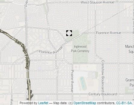 A map shows the approximate location where a woman and man were arrested after the death of an infant in Inglewood.