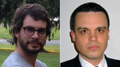 Brendan L. Mahoney, left, and Brendan T. Mahoney, right, have very similar backgrounds and very different views on Obamacare.