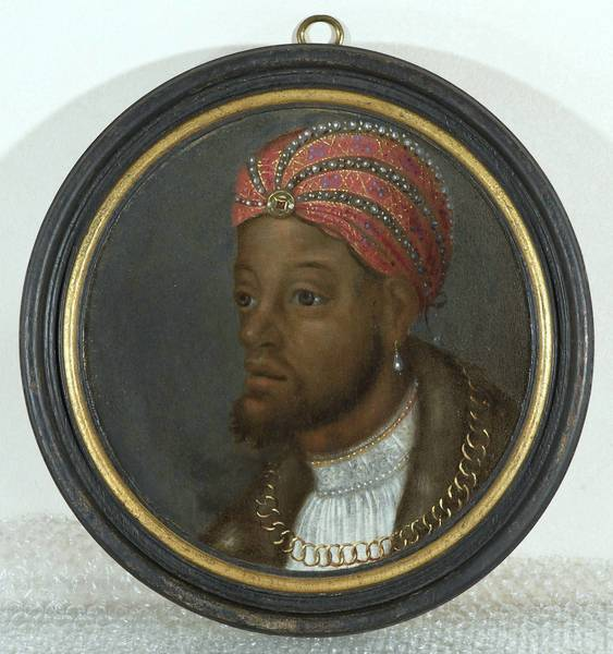 """Portrait of a Wealthy African"" which was painted around 1530-1540 by an unknown artist."