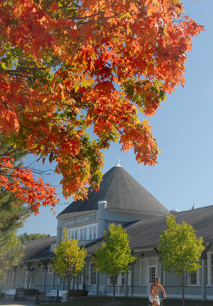 The fall colors were on full display near the Little Traverse History Museum Wednesday in Petoskey.