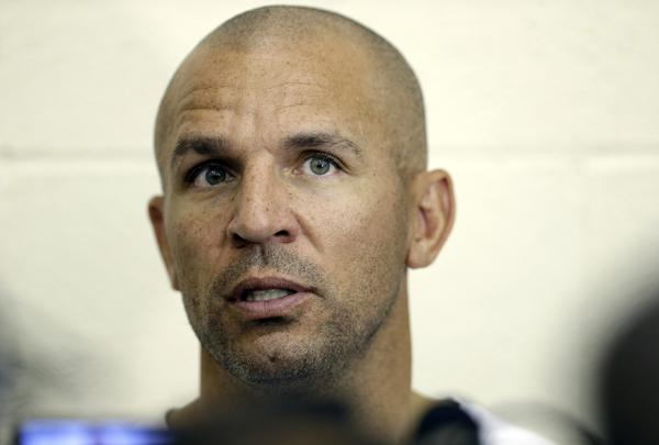 Brooklyn Coach Jason Kidd, shown speaking to reporters on Wednesday, has been suspended two games by the Nets for a drunken-driving incident.