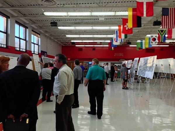 Close to 90 community members attended the open house for Phase 1 of a proposed project to widen Weiland Road and Lake Cook Road at Aptakisic Jr. High School on Wednesday, Oct. 2.