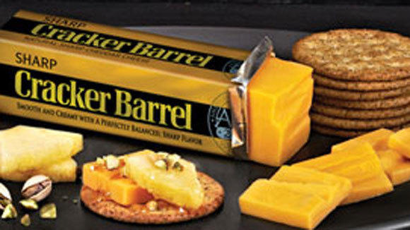 A screen grab of Cracker Barrel cheese from Kraft Foods.