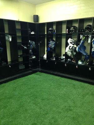 A look at part of Peninsula's new football locker room.