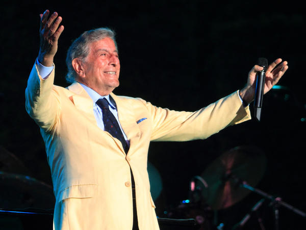 Tony Bennett, shown during an August performance in Pennsylvania, will spend most of Tuesday online interacting with fans in conjunction with the digital release of his entire Columbia Records catalog.
