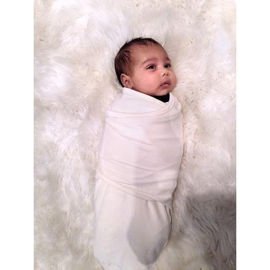 Kim Kardashian shows off baby North West