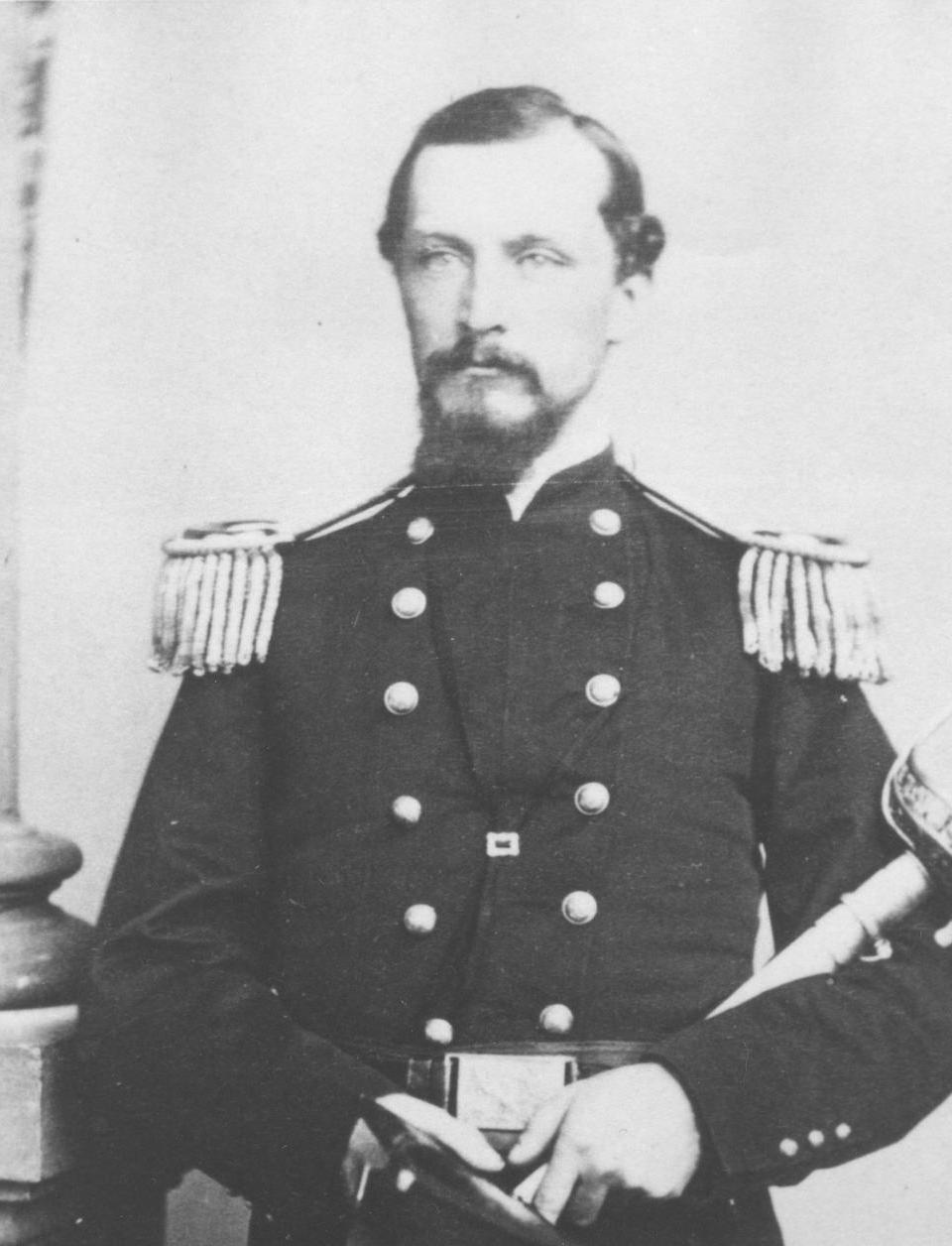 Despite previous battle wounds that severely restricted his use of both arms, Brig. Gen. Isaac J. Wistar commanded Union forces at Yorktown with an energetic hand, including a forceful October 1863 raid of Mathews County in search of Confederate privateers.