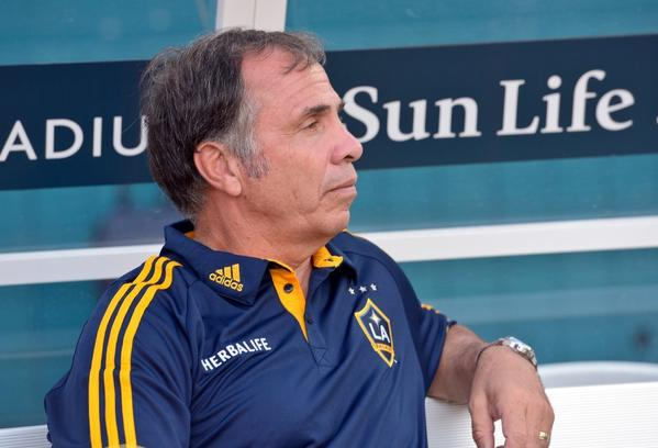 Bruce Arena has been suspended for one game for leaving the coaching area when he was arguing a call.