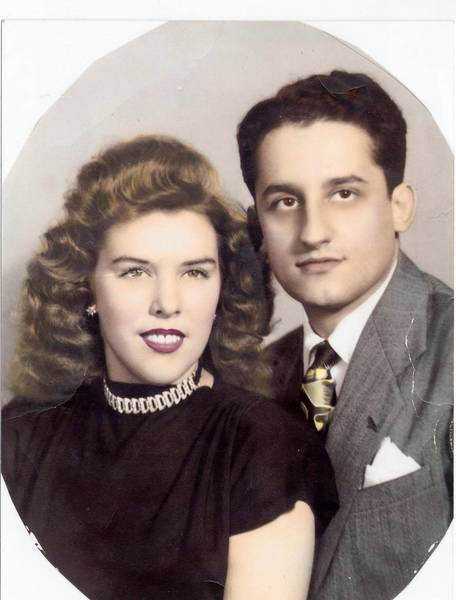 Tony and Doris Provenzano never had a true wedding photo -- the photographer failed to show at their 1945 wedding in England -- but they had this photo taken a few months later in Chicago.