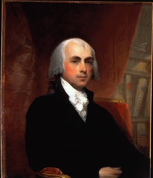President James Madison, who was in the White House two centuries ago, is still making news in the government shutdown debate.