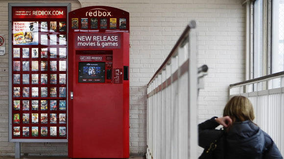 Redbox vending machine at the UIC-Halsted stop on the CTA Blue Line in 2011.