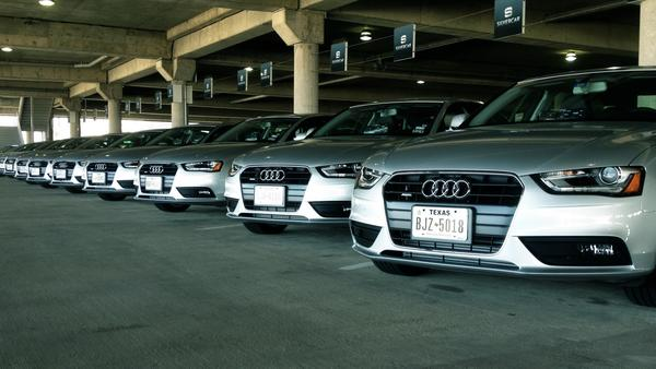 Silvercar rents only new Audi A4s that customers book and access with a mobile app.