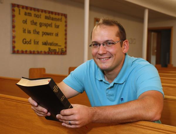 Zack Opheim, pastor at Aberdeen Church of Christ. American News Photo by John Davis
