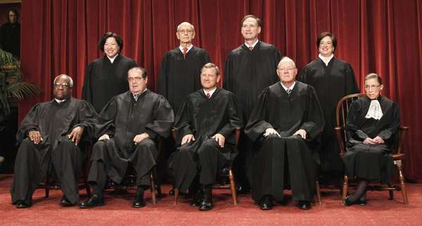 The U.S. Supreme Court justices in 2010.