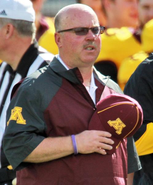 Minnesota head coach Jerry Kill on the sideline before the start of play against Western Illinois at TCF Bank Stadium in Minneapolis.