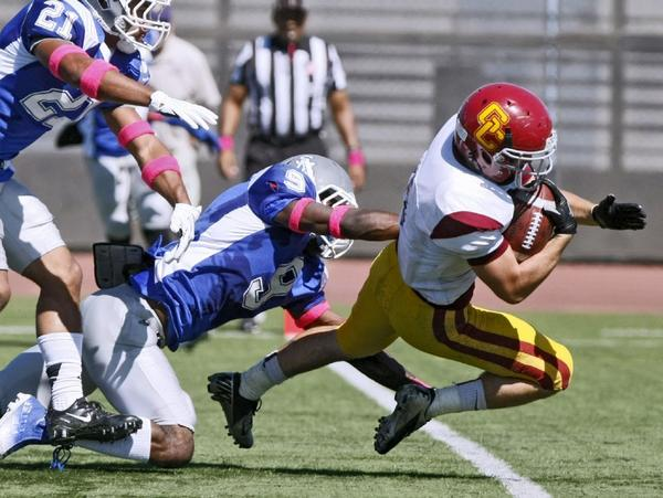 Glendale Community College lost to Santa Monica on Saturday afternoon. (Raul Roa Staff Photographer)