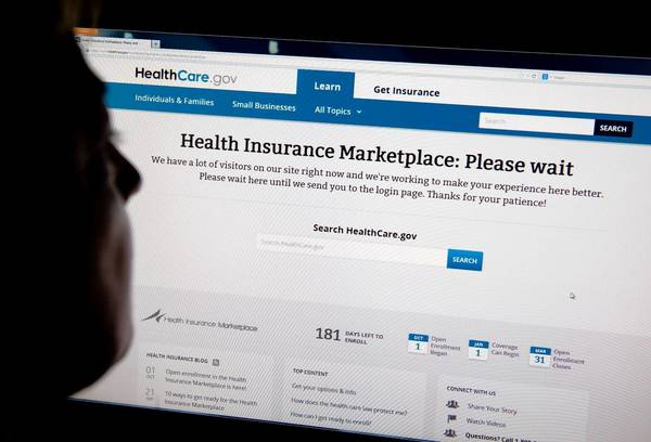 Backers of President Obama's healthcare law are heartened by strong consumer interest, but problems accessing the new online insurance exchanges have been a major headache.