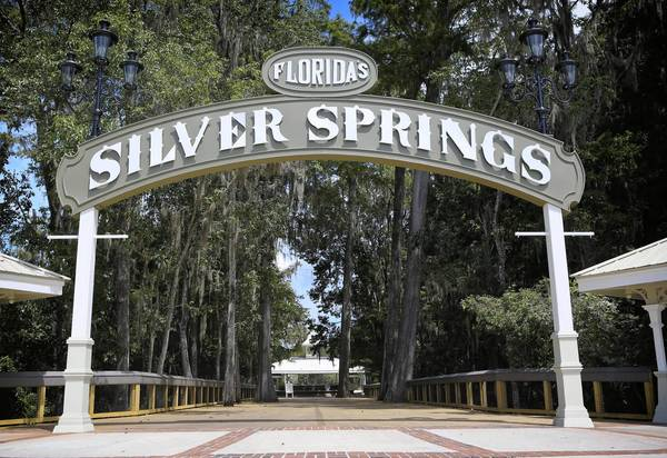 The revamped entrance at Silver Springs on September 11, 2013. The park is in its final stages of transition from a privately-held tourist attraction to a state park. The state DEP will maintain the glass-bottom boats, but is getting rid of the exotic animals and a few other items that didn't suit the overall mission of the state park system. (Jacob Langston/Orlando Sentinel)