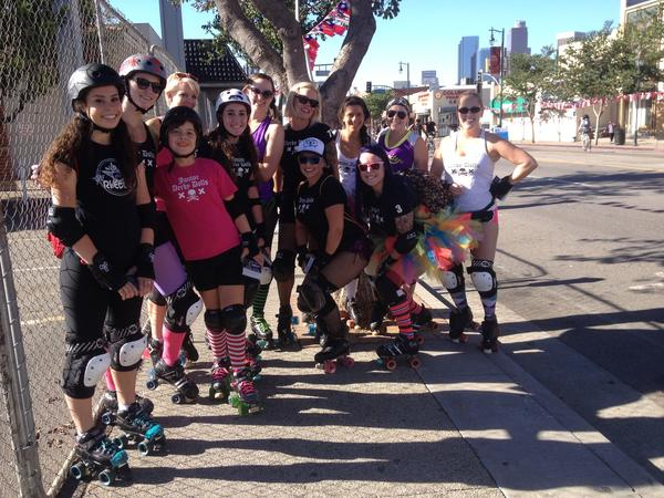 The Derby Dolls enjoying CicLAvia on Sunday.