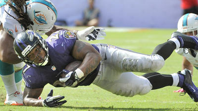 Signs of life for Ravens running game, Ray Rice's fumbles and m…
