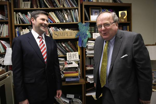 Attorneys for the Chicago-based Thomas More Society, Peter Breen, left, and Thomas Brejcha, are defending Illinois' ban on same-sex marriage in a lawsuit in Cook County.