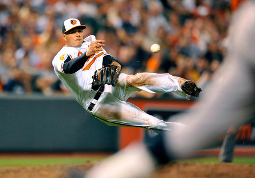 The young third baseman actually has more errors (11) than any other Oriole this season, but his range and arm strength make him one of the best and most exciting fielders in all of baseball. His ability also allows the Orioles to adjust the way they position the rest of their infield.