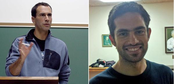 John Greyson, left, and Tarek Loubani in family photos.