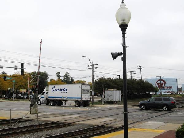 A railroad crossing at Cass Avenue in Westmont[cq] will be closed for eight days[cq] for track and road surface repairs.
