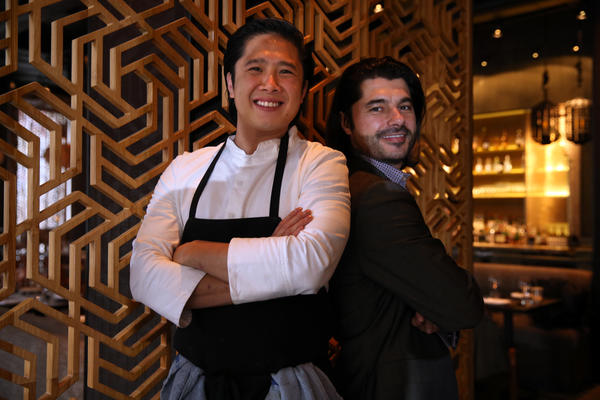 Chef and partner Thai Dang (left) and director/partner Attila Gyulai at Embeya, 564 W. Randolph in Chicago, Monday, Dec. 17, 2012. Embeya and another Chicago restaurant, Carriage House, made Esquire magazine's best new restaurants list.