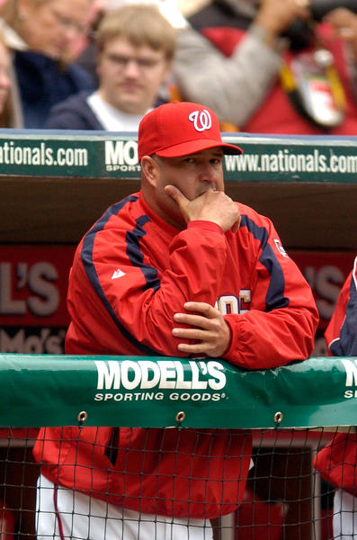 Manny Acta during his term managing the Washington Nationals in 2007.