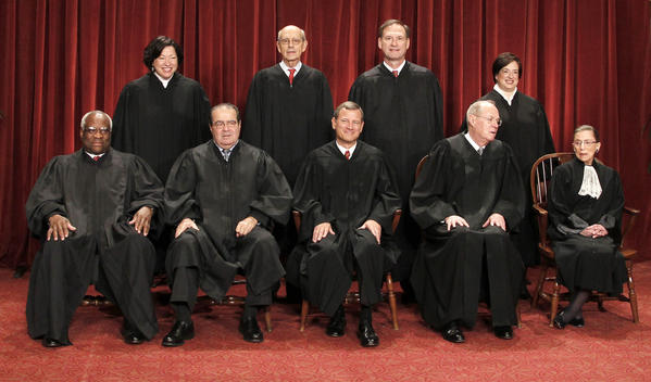 Members of the U.S. Supreme Court, which on Monday rejected an appeal by Argentina to review a ruling in a years-old debt dispute.