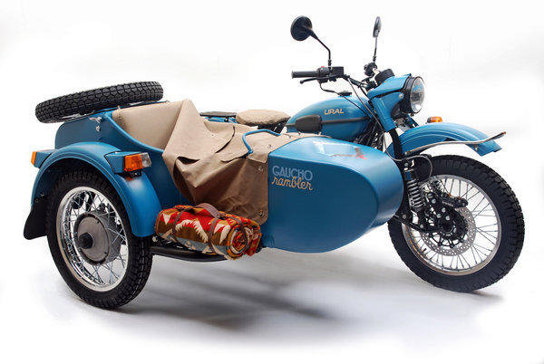 Ural's new Gaucho Rambler comes with a Pendleton blanket and an outdoor cook kit.