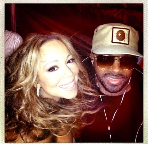 Mariah Carey and Jermaine Dupri, who has been named her manager.