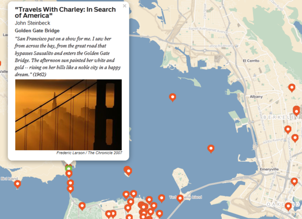 The new literary map of San Francisco.