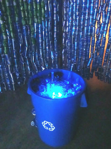 "Richard Newton's mixed-media installation, ""La Gruta Azul"" (2013), is at Jancar Gallery."
