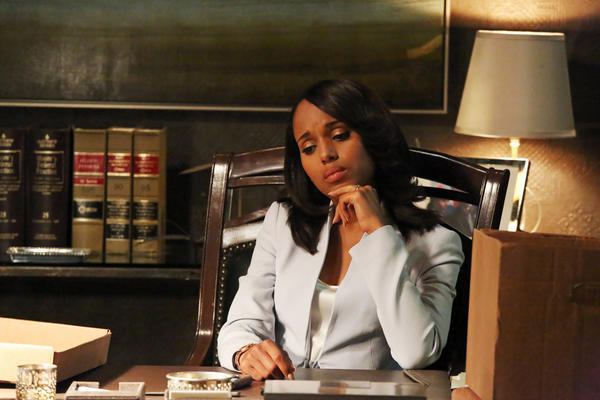 "Actress Kerry Washington stars as Olivia Pope, the fixer in ABC's political drama ""Scandal,"" whose season premiere placed at the top of Nielsen's Twitter TV ratings for the week."