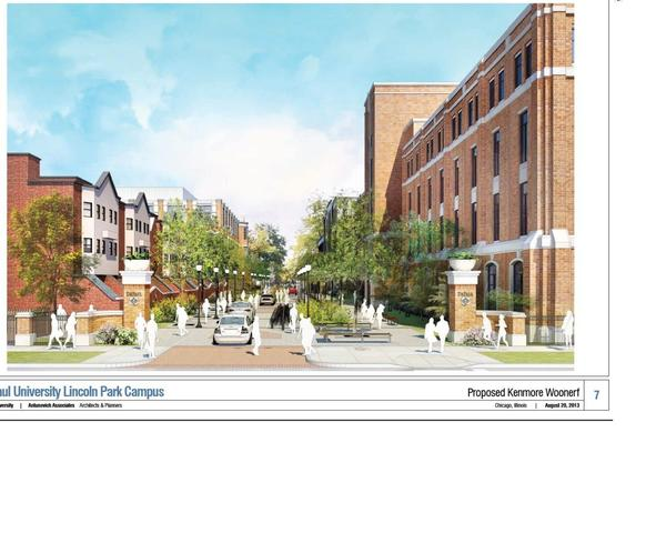 A look at the proposed Kenmore woonerf at DePaul University.